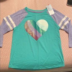 NWT girls 3/4 T shirt